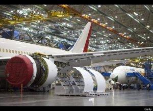 dalam bengkel boeing 787 dreamliner